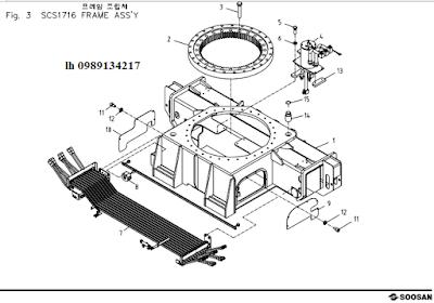 Quay toa- khung bệ của Cẩu soosan 17 tấn SCS1716