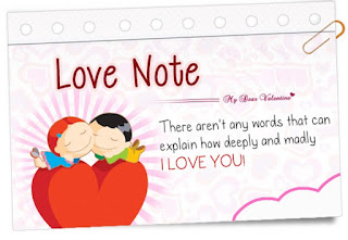 Love notes on Valentine day