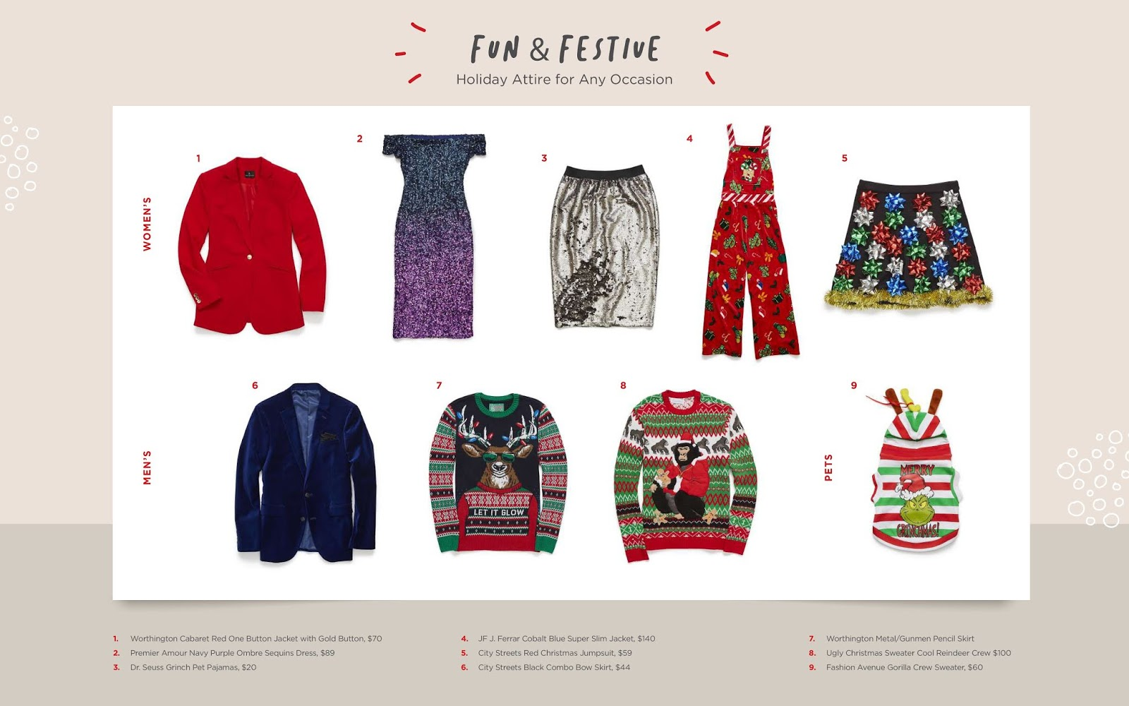 Fun and Festive Fashion Christmas Gifts