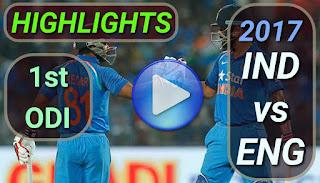 Ind vs eng 1st odi 2017 highlights
