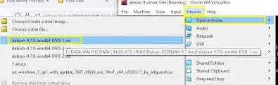 Input DVD Debian 9 label 1