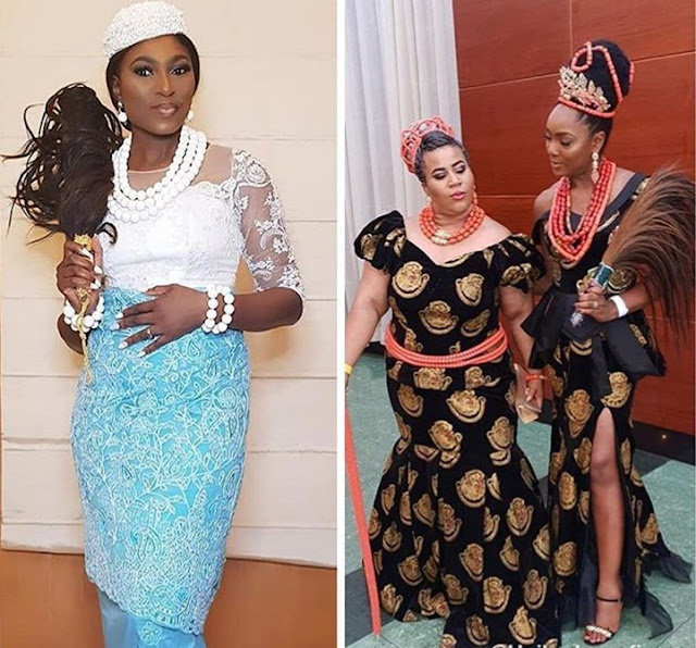 Actress McDermott and Chioma Akpotha Steps Out In Their Finest Attire To Impress Chief Daddy.