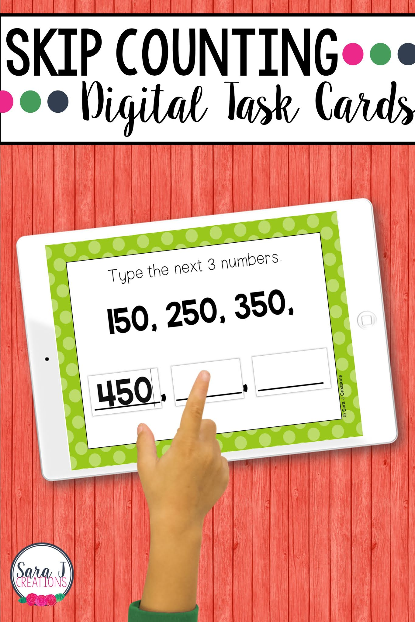 Make digital learning fun with these engaging, no prep Skip Counting Boom Cards. These digital task cards are perfect for remote learning but can also be used in a traditional classroom on devices such as ipads, tables, Chromebooks, smartboards, and more. Designed for 2nd grade, these place value task cards include numbers up to 1,000 and practice skip counting by 1, 5, 10 and 100..