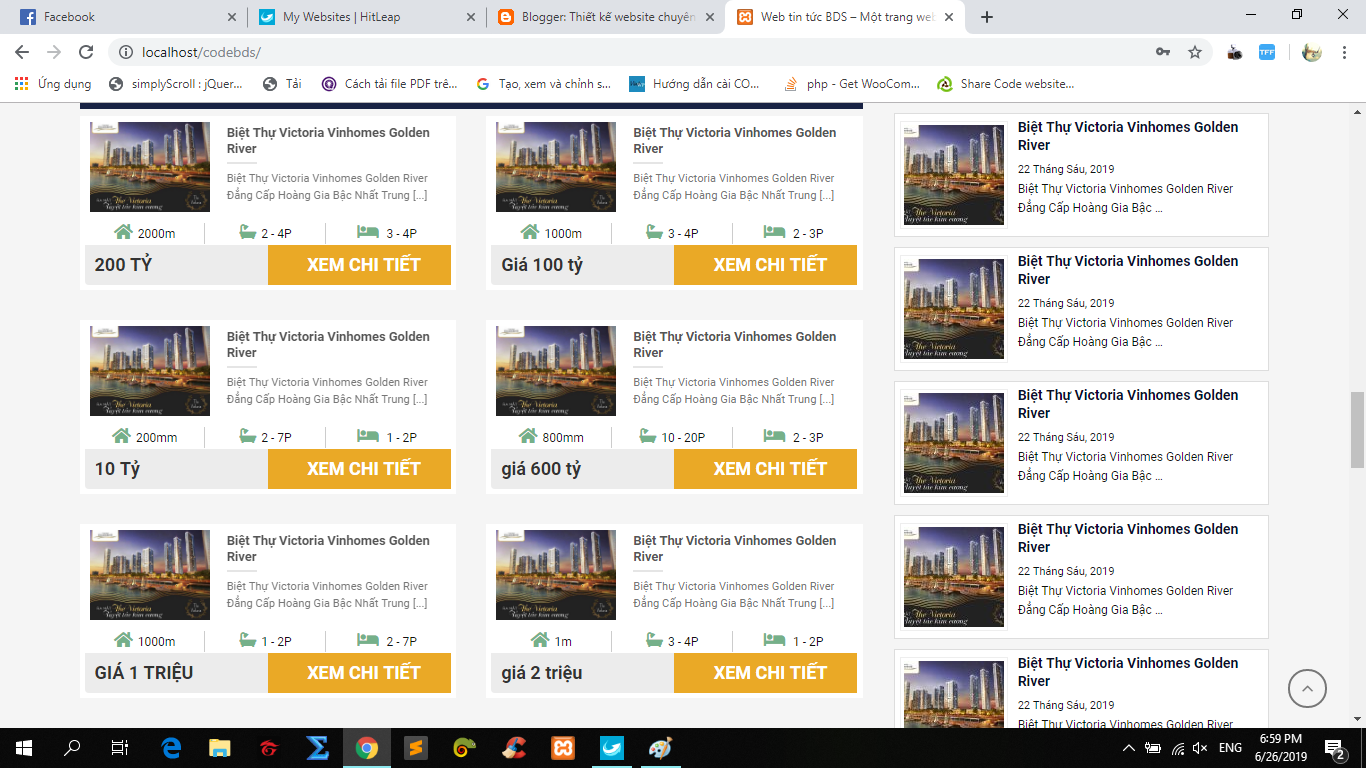 Mẫu website bất động sản wordpress | Theme wordpress bất động sản