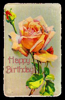printable greeting birthday rose download