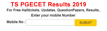 Telangana PGECET Results 2019