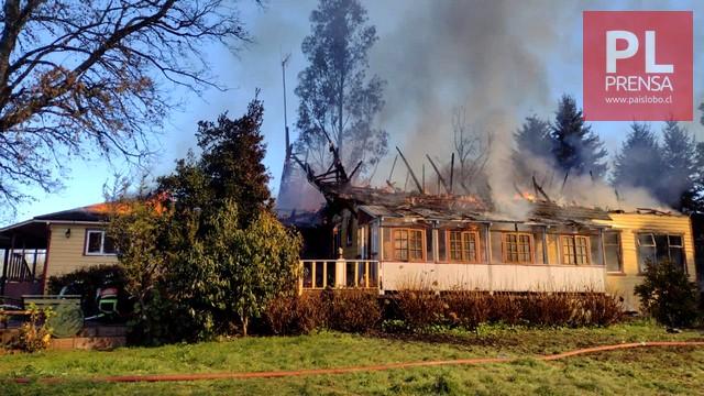 Incendio en sector Whitman