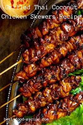 Grilled Thai Coconùt Chicken Skewers Recipe