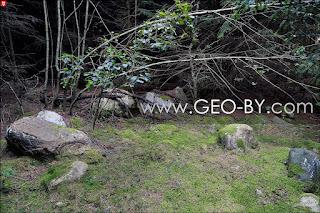 Wojciechowo (Novospask). Stone garden in the forest