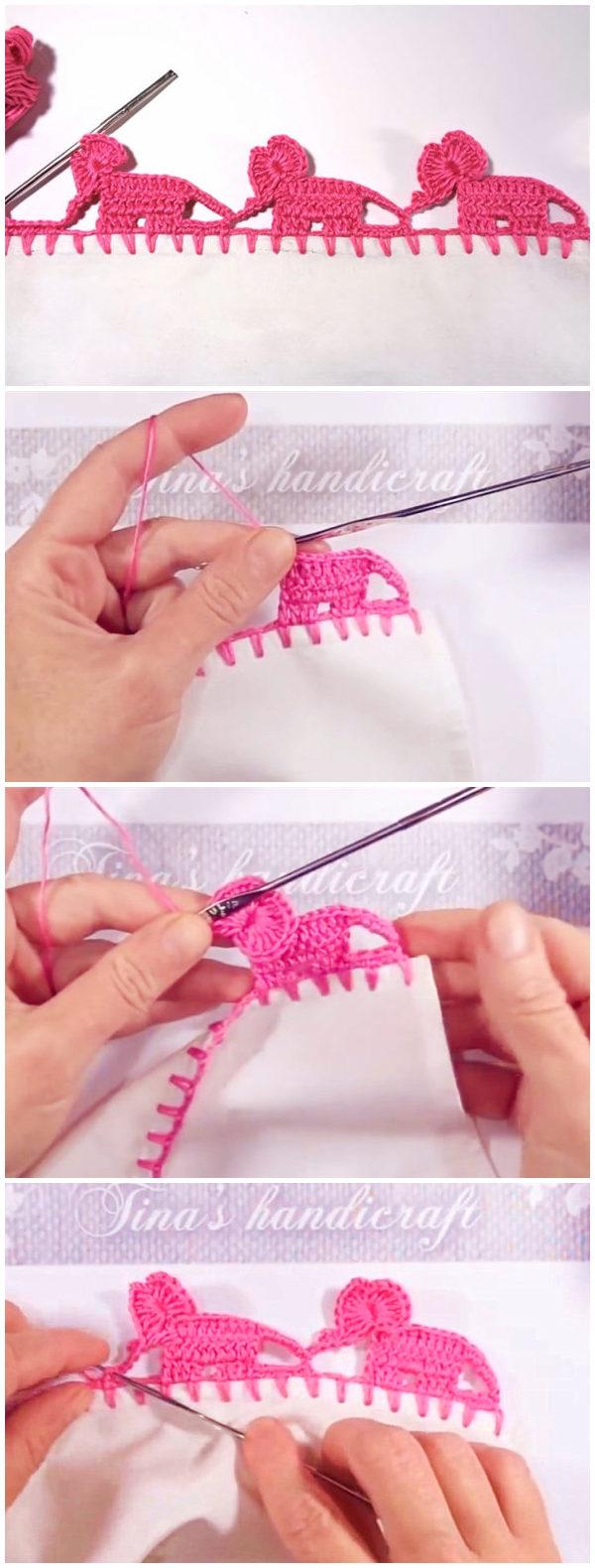 Crochet Elephant Edging