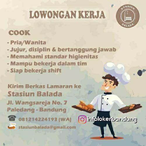 Lowongan Kerja Stasiun Balada Cafe Bandung Juni 2018