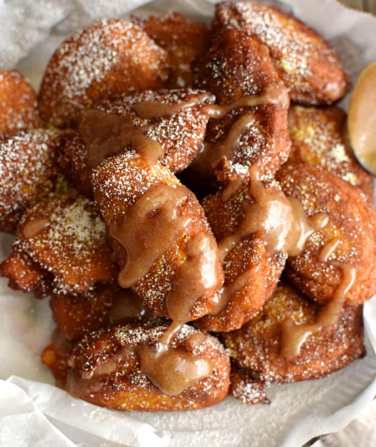 Barriguitas de vieja o frituras de calabaza, dulce puertorriqueño
