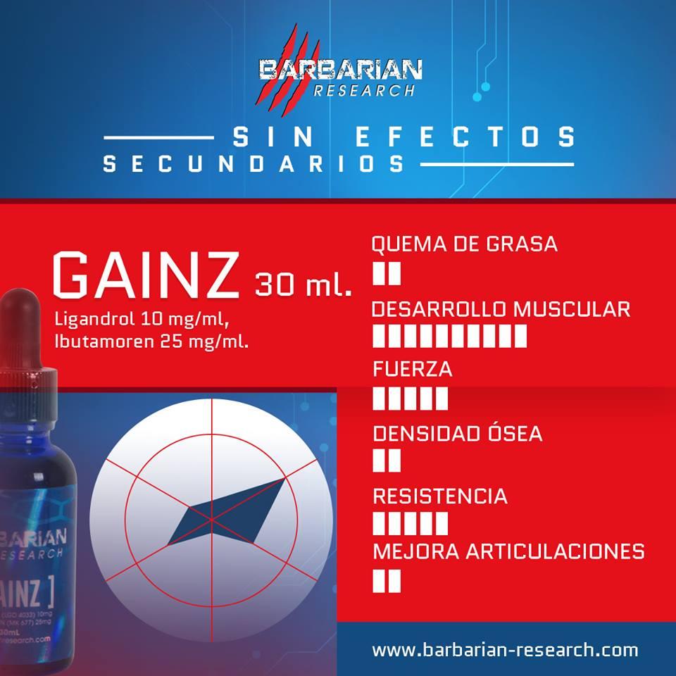 Gainz 30 ml - precio ( $1,000 pesos ) ligandrol e