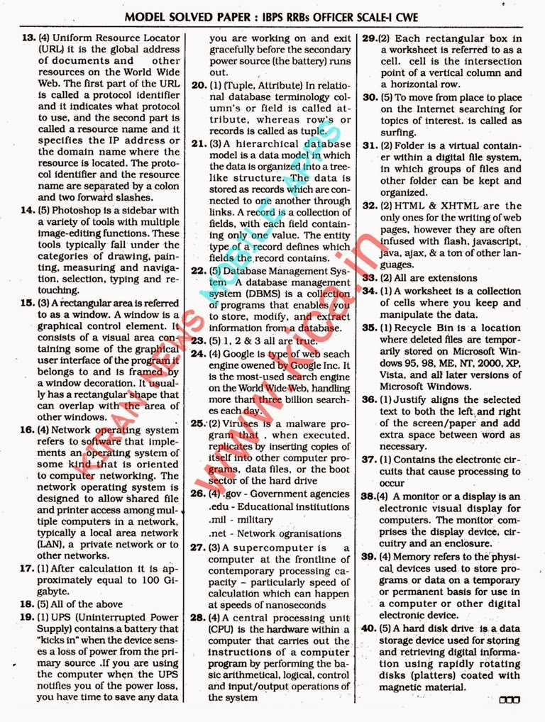Scale question it paper officer ibps pdf 1