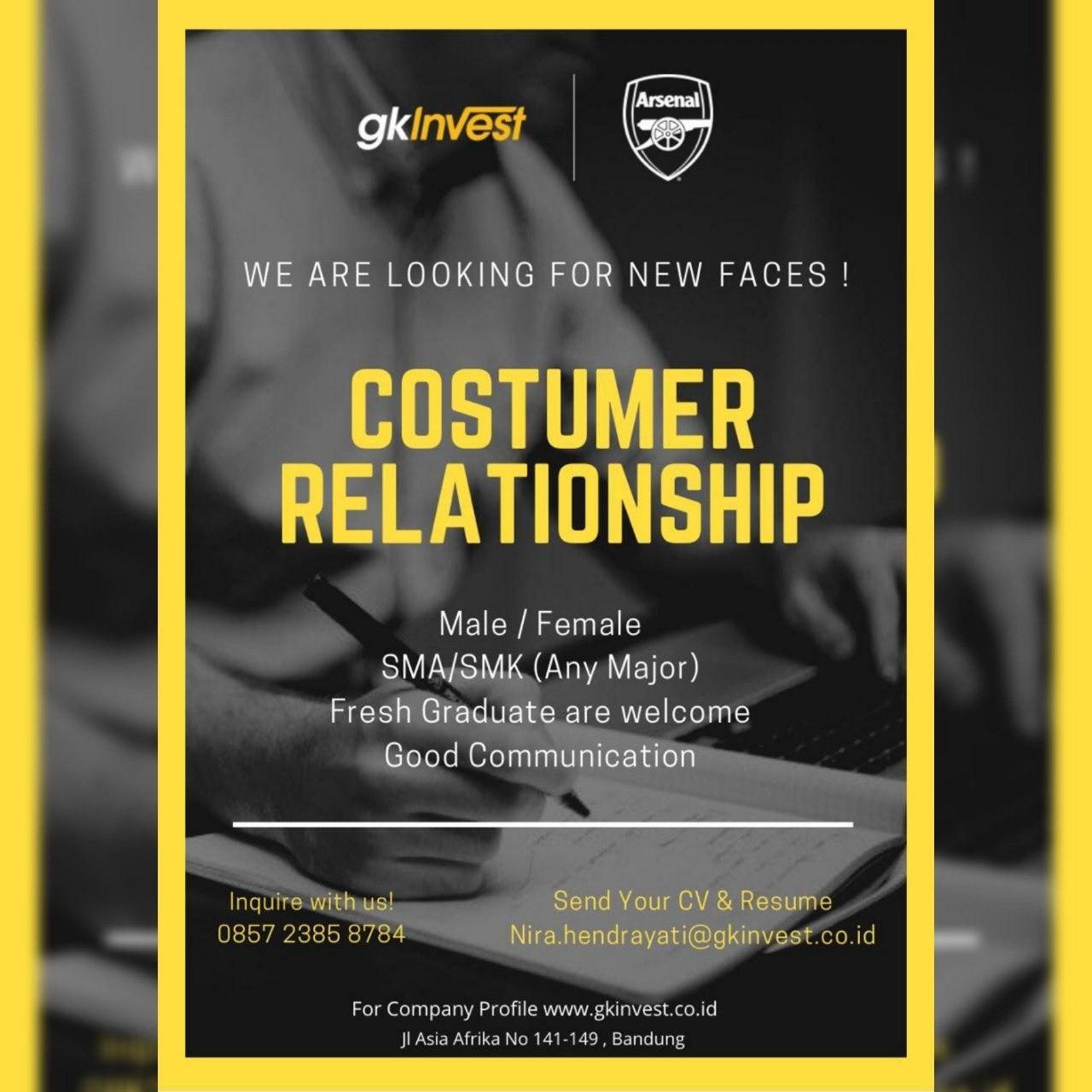 Lowongan Kerja Customer Relationship GkInvest Oktober 2020