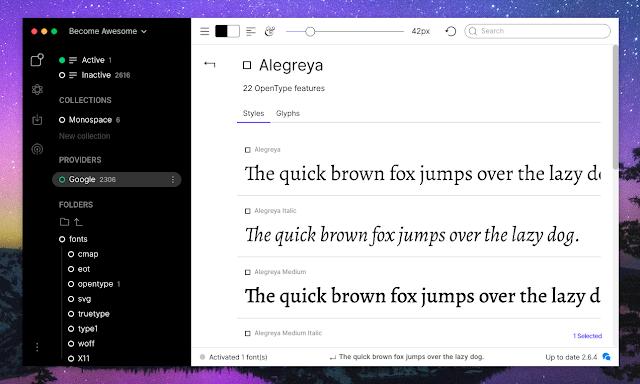 Fontbase font styles