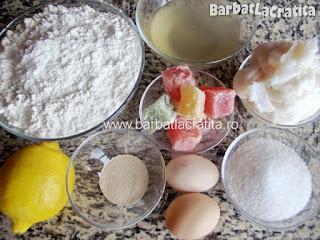 Fursecuri cu rahat spritate - ingredientele necesare prepararii retetei