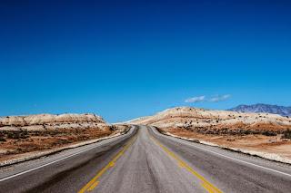 Une rue dans le désert