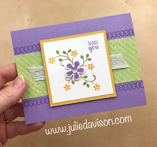 Stampin' Up! Sale-a-Bration 2020 Thoughtful Blooms Card ~ www.juliedavison.com
