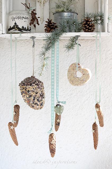 Mit Zapfen eine Garten Dekoration basteln für Dezember, Januar und Februar