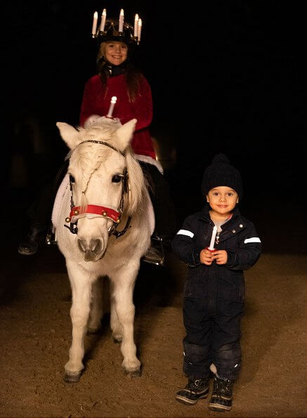 Princess Estelle and Prince Oscar come to greet Christmas. Happy Lucia Day