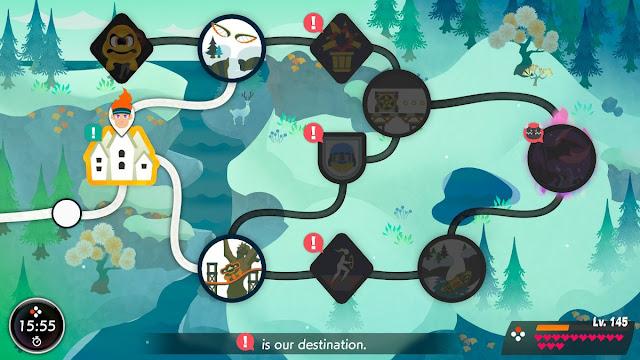 Ring Fit Adventure World 16 Steeliest Buns overworld map second half town