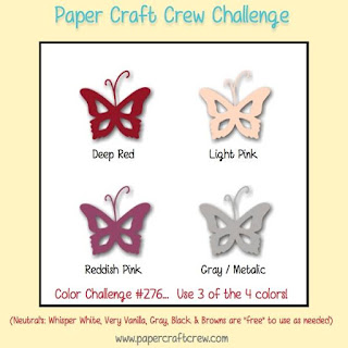 Paper Craft Crew Colour Challenge #PCC276 using Stampin' Up! products order from Mitosu Crafts UK Online Shop