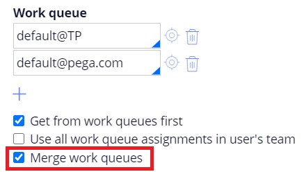 Merge work queues