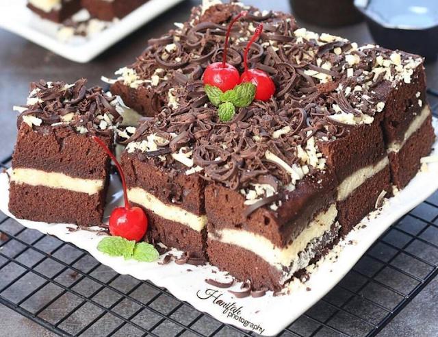 20 resep brownies coklat keju