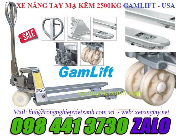 Xe nâng tay mạ kẽm 2.5 tấn (M20Z