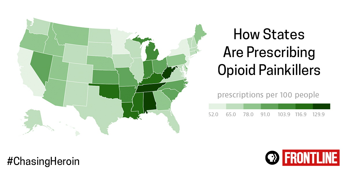 How States are Prescribing Opioid Painkillers