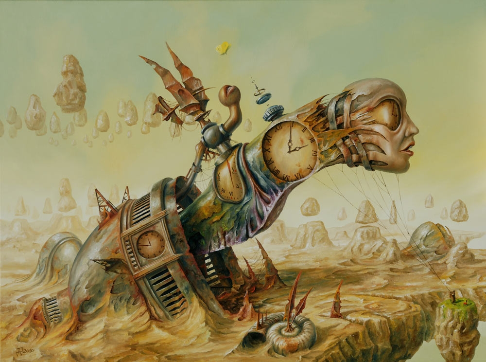 07-Snail-or-butterfly-Jaroslaw-Jaśnikowski-Paintings-of-Surreal-Architecture-with-Gothic-Undertones-www-designstack-co