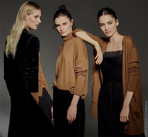 Ropa de moda mujer otoño invierno 2018: vestidos, monos, sweaters, polerones. Moda invierno 2018.