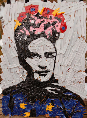 """""""Utensil Frida,"""" by Theodore Carter and Robert Carter, is part of """"Night of 1,000 Fridas."""" (Elizabeth Carter)"""