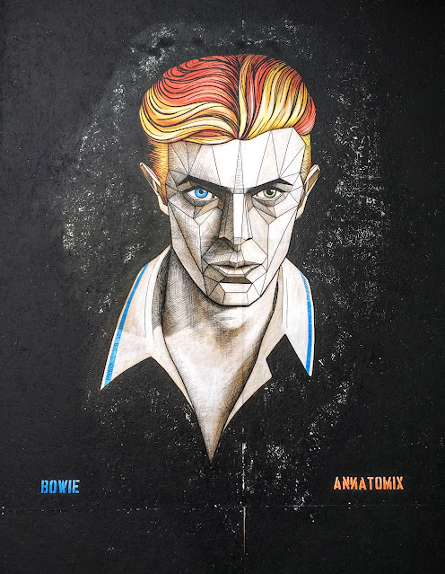 David Bowie Wall Art Graffiti Annatomix Birmingham