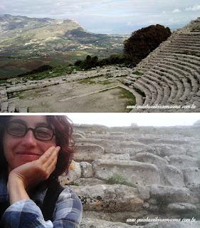 guia brasileira segesta teatro sicilia - Área arqueológica de Segesta na Sicília