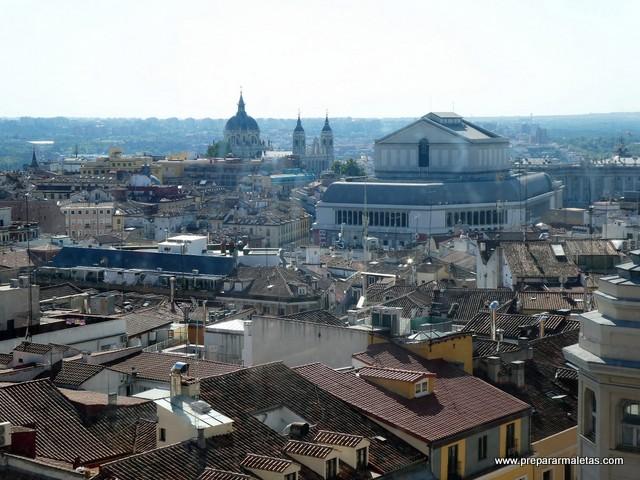 tejados de Madrid desde corte inglés callao