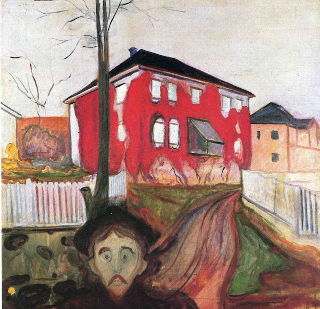 Эдвард Мунк - Красный плющ. 1900 (2)