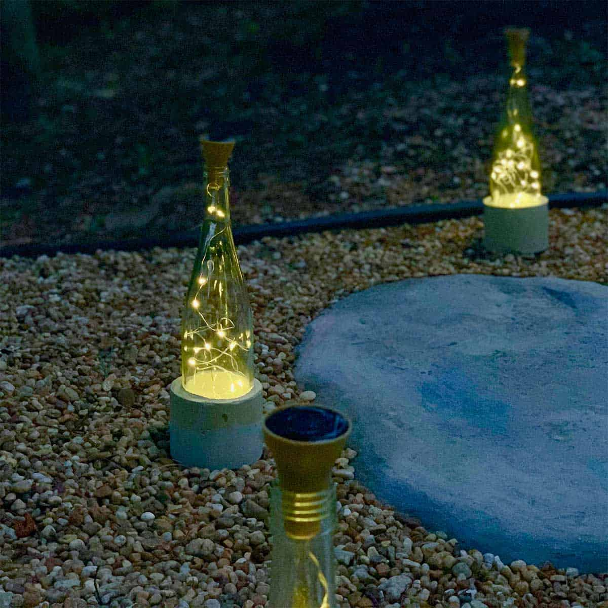 wine glass solar lights for outdoors