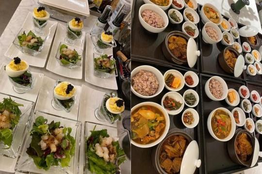 Lee Min Jung bir akşam yemeği verdi