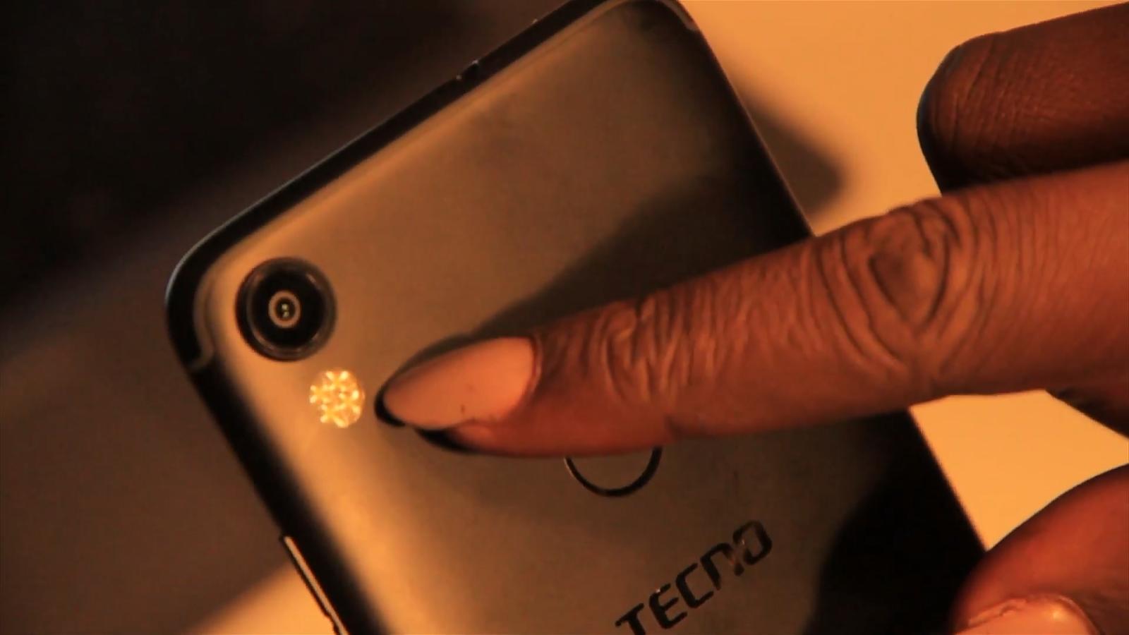 13mp camera with quad flash and fingerprint reader