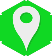 location hexagon icon