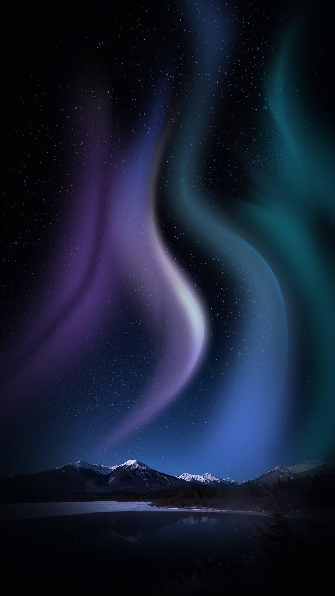 aurora 4k mobile wallpaper
