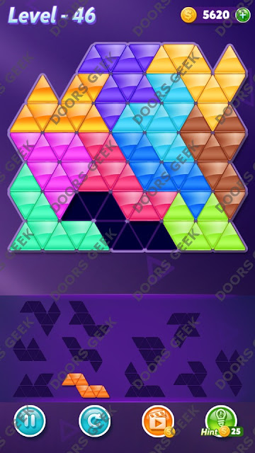 Block! Triangle Puzzle Challenger Level 46 Solution, Cheats, Walkthrough for Android, iPhone, iPad and iPod