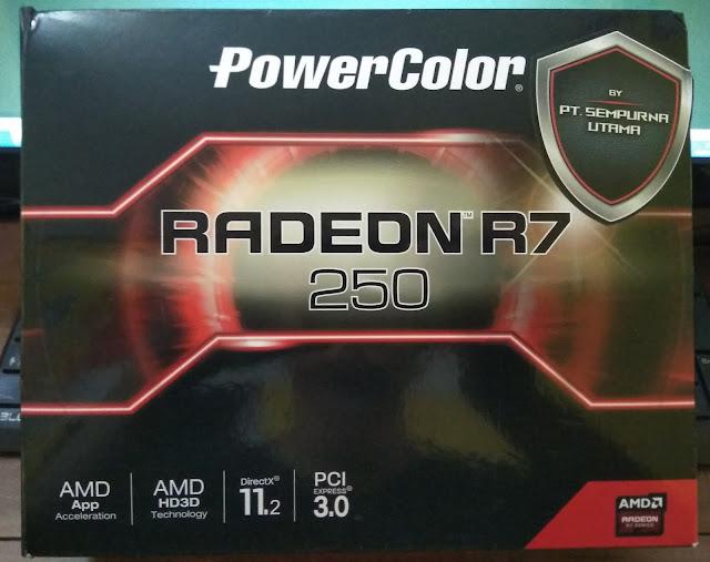box VGA Powercolor Radeon R7 250 2GB DDR5 128Bit