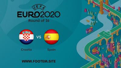 Spain vs Croatia EURO - Round of 16