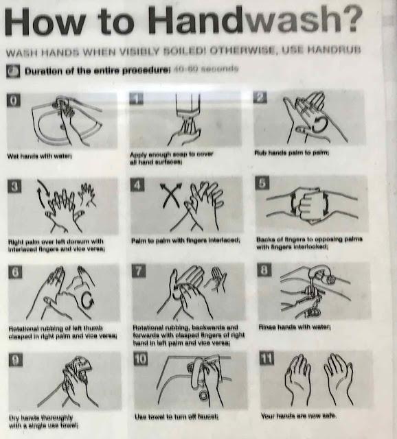 chart, hands, instructions, Okinawa, washing