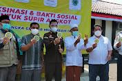 Sambut HUT RI ke-76, Kejaksaan Negeri Kabupaten Sukabumi Gelar Vaksinasi Massal