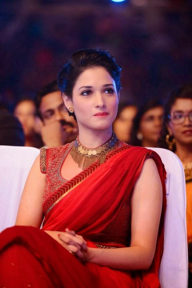 Tamannaah Bhatia Stills At SIIMA Awards In Red Half Saree