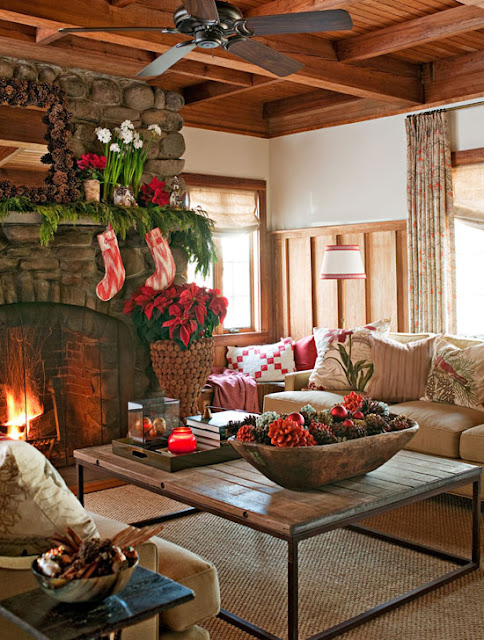 image result for beautiful cozy cottage decorated for Christmas elegant sophisticated interior design
